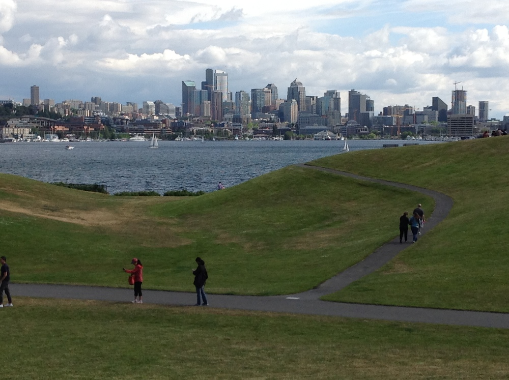 View of Gas Works Park Seattle by drawntocities.com