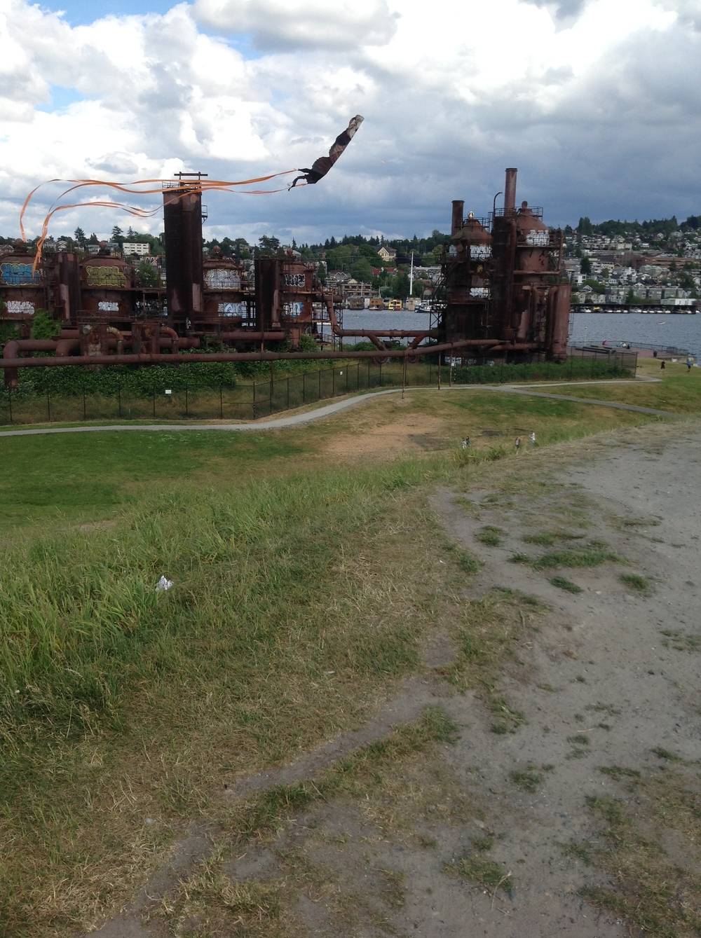 Gas Works Park Seattle infrastructure by drawntocities.com