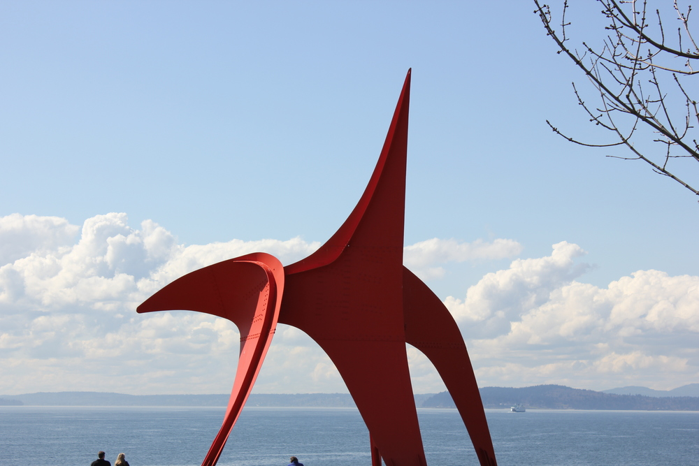 Eagle by Alexander Calder in Olympic Sculpture Park Seattle by drawntocities.com