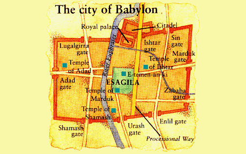 Map of Esagila in Babylon