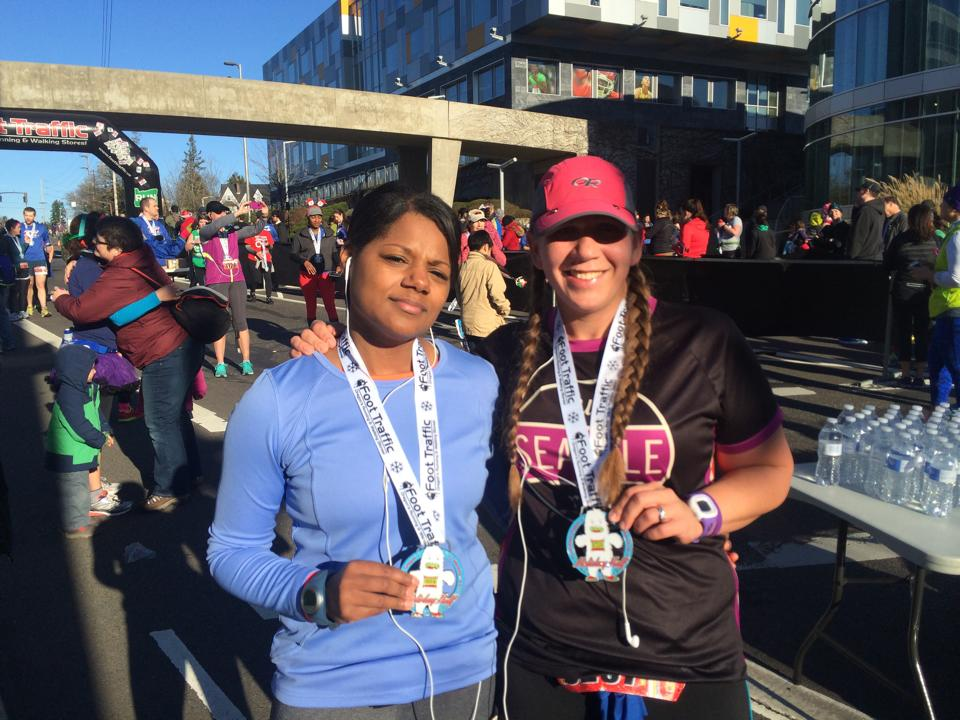 Emily and Donella at Holiday Half Portland Dec 14, 2014.jpg