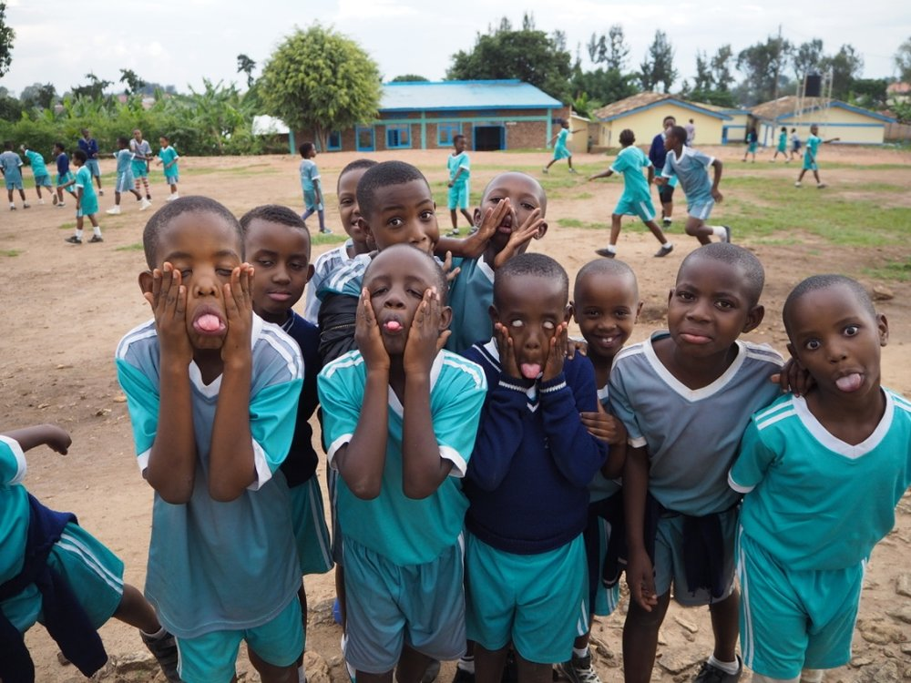 'Pull your ugliest face kids' - and so they did! Kinella, Kaboss and Rebecca (the three worst faces!) are all kids who live at Urukundo and the others all go to school Urukundo Learning Centre. This was my first day having only just met some of these kids and as soon as the camera came out I was Miss popular. They loved seeing how silly they looked on screen!