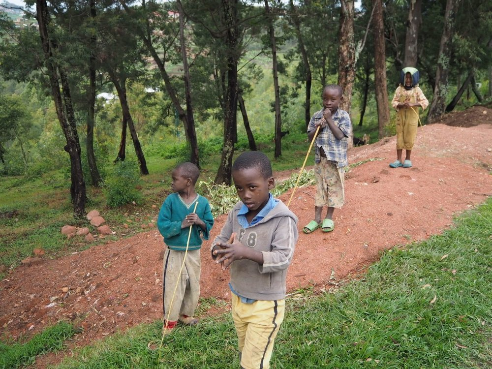 A few of the volunteers went for a walk to the local town and although it was great to see the local area for the first time, it did highlight the poverty around. It made me realise that the kids who lived at Urukundo in some ways were lucky to have the food and clothes they have because other kids in the area didn't have very much at all.