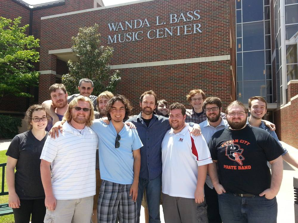 Our teacher, Chance Thomas, and the rest of the students.  (L-R) Katie Bouknight, John Michael Hunt, Taner Davis, Or Kribos, Nathan Reed, Tanner Smith, Chance Thomas, Ben Stire, Colton Hines, Jon Helvering, Me, Sean Erwin, and Cooper Baldwin