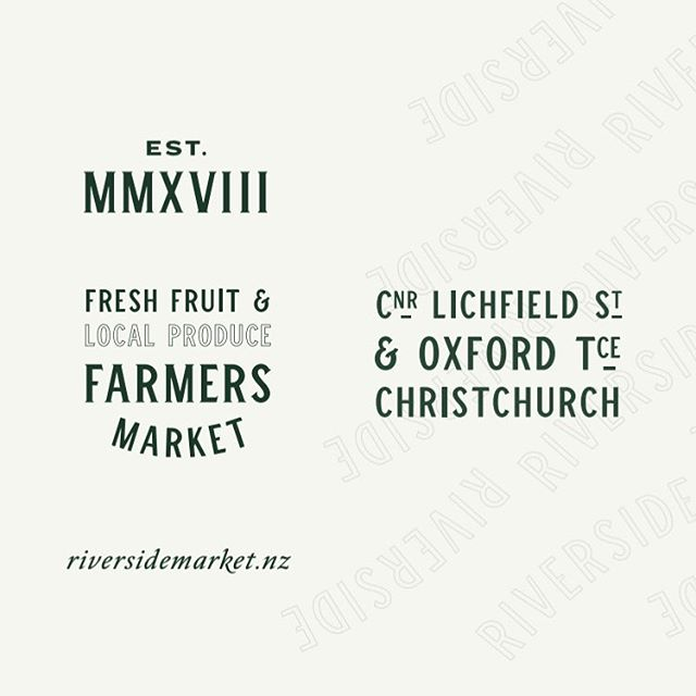 We're very excited to share some of what we've been working on. Riverside will be a vibrant addition to Christchurch city; a 7-day trading, locally grown, indoor farmers market, many food offerings (think Little High), bringin' back the lanes with rooftop restaurants and bars overlooking the Avon.  Brand Identity, Copywriting, Web Design & Development: by @studiothompsonco