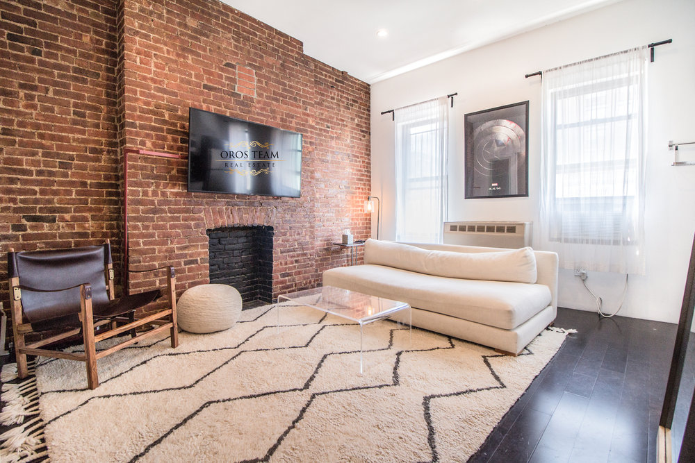 46 Grand Street #5F - Gorgeous 1 Bed w/French Doors*Triple Exposure *Exposed Brick in Prime Soho!Live Tour Available HEREBrand new renovations, triple window exposure, bright and quiet unit offering super high ceilings, dark wood floors throughout the apartment, exposed brick, new light fixtures and deco fireplace. Corner stainless steel appliances with dishwasher windowed kitchen and stellar bathroom with skylight add the gorgeous touch to this new home!Conveniently Located near several subway lines in prime Soho location. Steps from great restaurants, shopping, entertainments and best that NYC offers.Rent: $3,495 /monthTerms: 12 - 12 MonthsAvailable: July 1, 2018