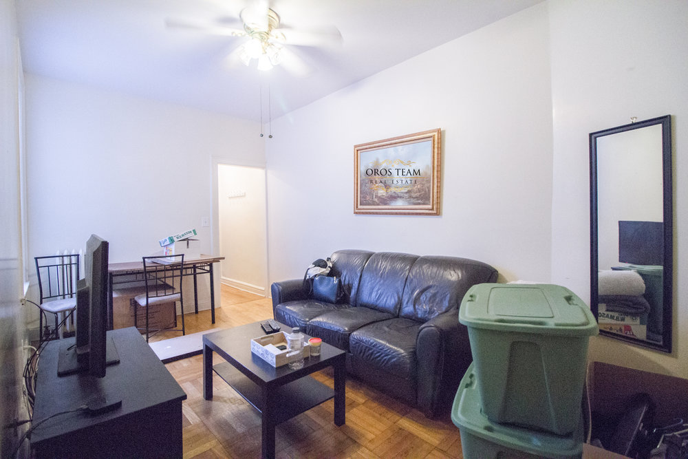 455 W 44 Street #29 - LARGE two bedroom on serene block in Clinton! The unit features original hardwood floors, spacious separate eat in kitchen, queen size bedrooms, and massive living space!  Located in charming walk up, Pet friendly building! Easy access to Port Authority and entrances to A,C,E trains.Rent: $2,995 /monthTerms: 12 - 12 MonthsAvailable: July 1st