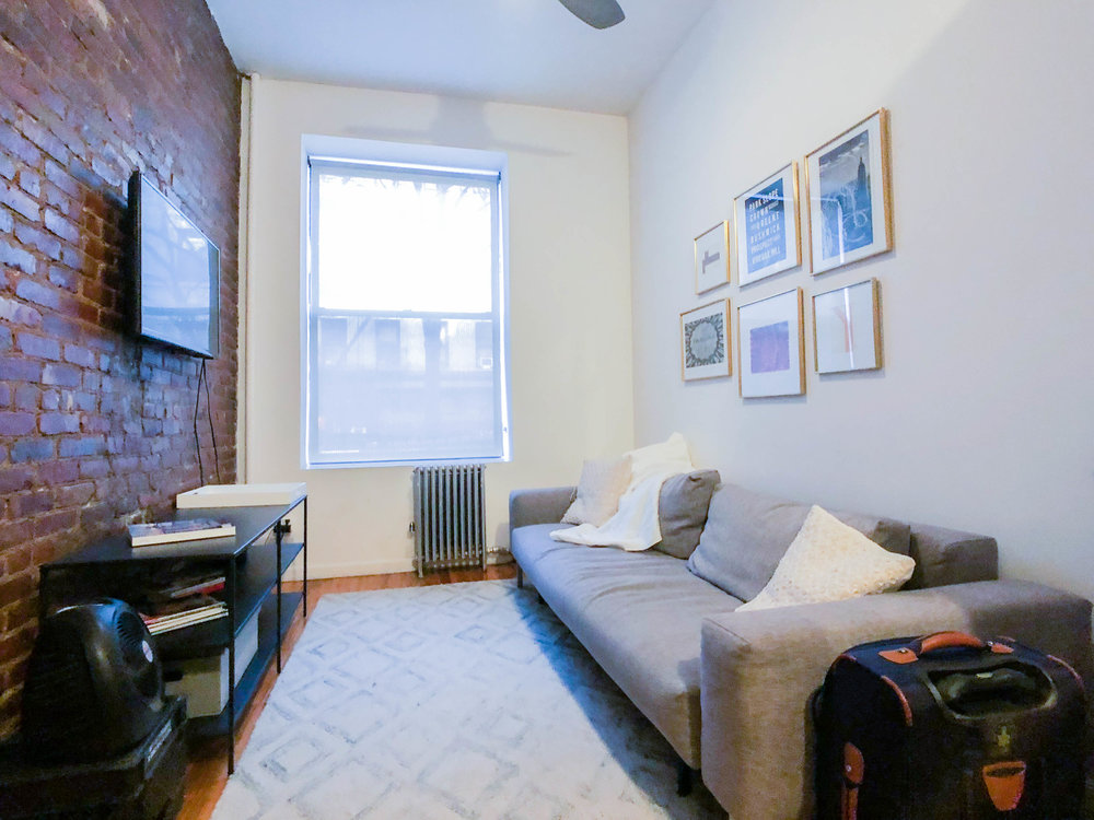 217 E 10 Street #1 - Renovated Furnished One Bedroom in Prime East Village!Enjoy fully furnished one bedroom home with top of a line renovations. The unit features separate bedroom with dresser and queen size lofted bed, charming living space with sofa, flat screen TV, as well as eat-in nook. Images are of the exact unit.Located on the first floor of the building (not ground level) in prime east village. Close to public transportation, cafes and shopping. Flexible lease term.Rent: $2,900 /monthTerms: 12 - 12 MonthsAvailable: Immediate