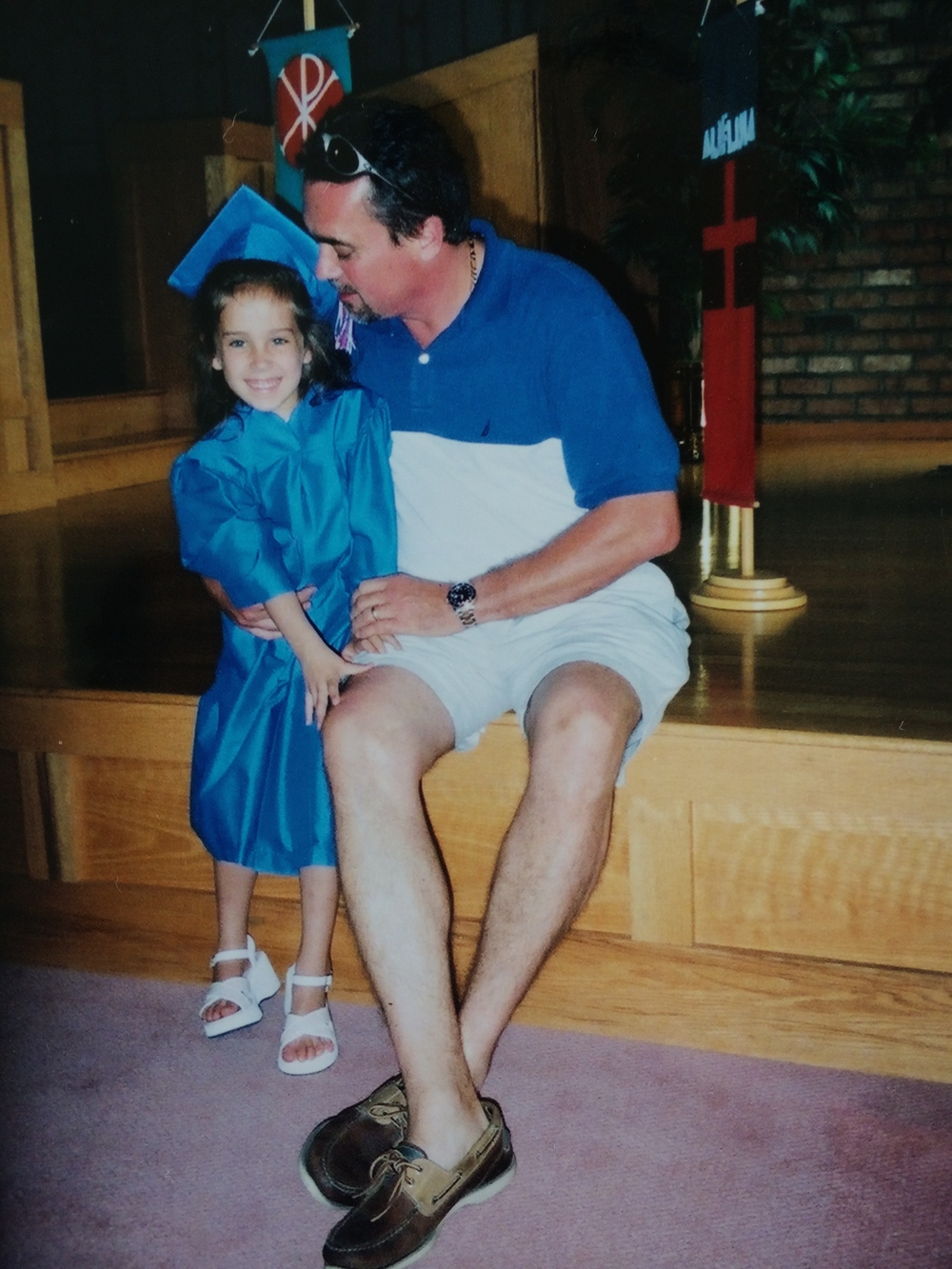 My dad and me at my preschool graduation