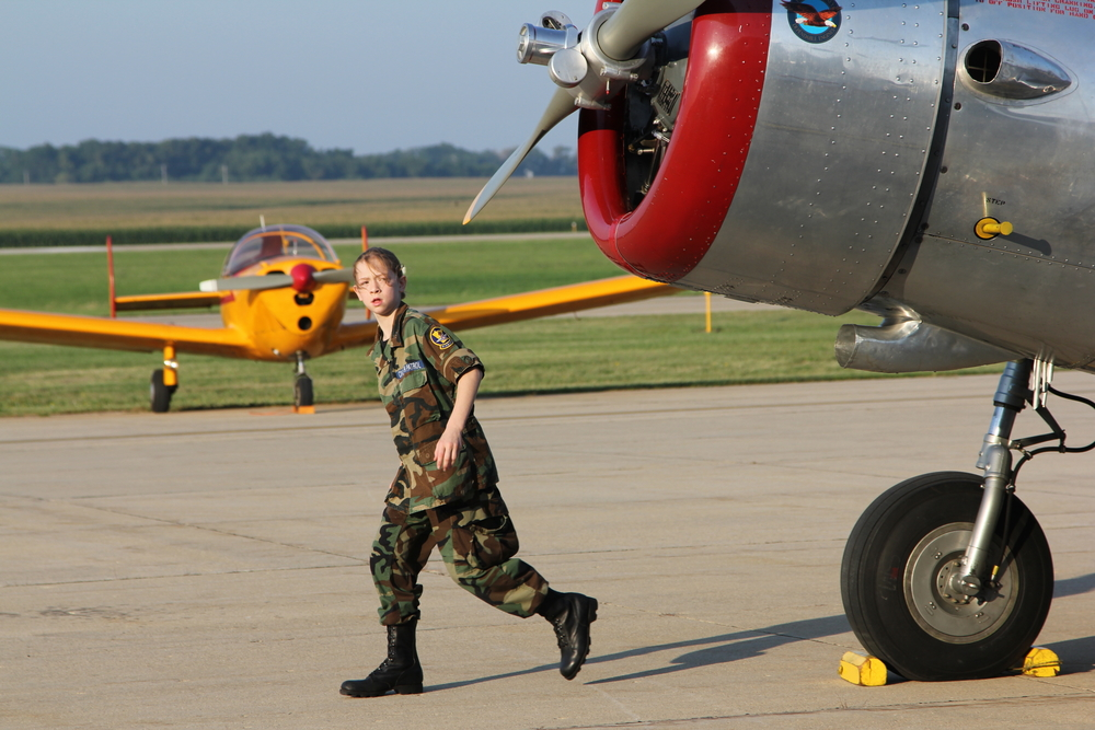 At our annual fly-in breakfast, cadets gain experience in working the flight line.