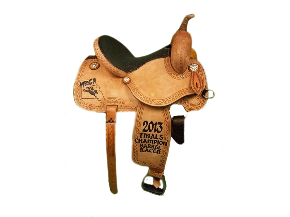 Saddle Details: All Rough Out with Full V Border.Rawhide Braided Horn.Chocolate Gator Print Seat.