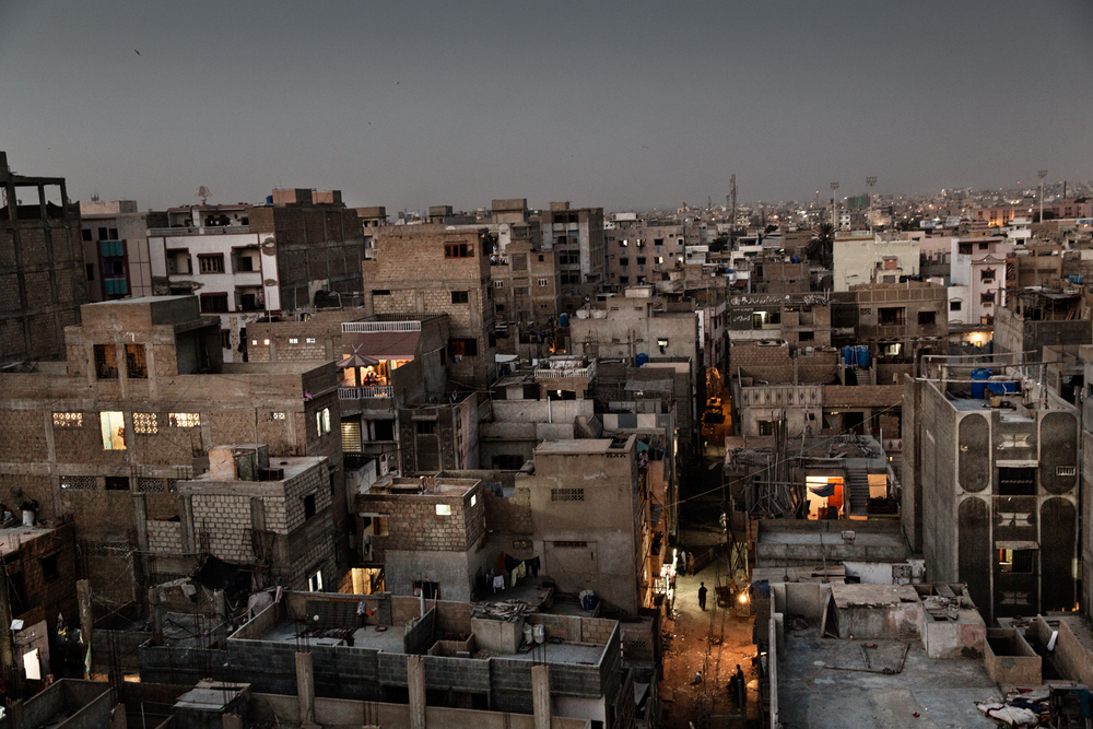 A view of Lyari Town in Karachi, Pakistan.