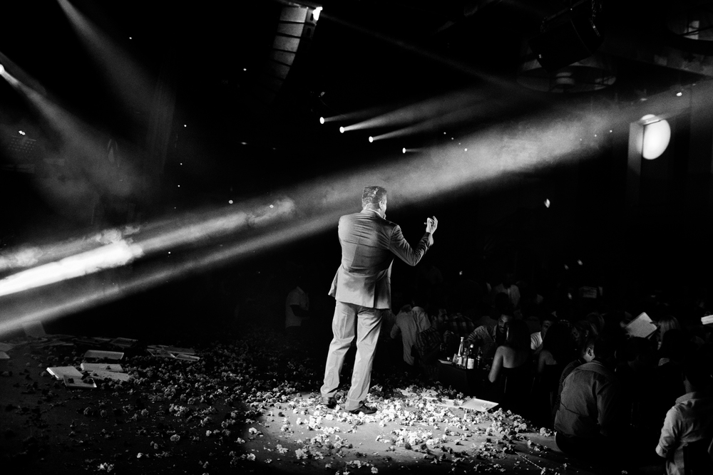 A singer performs at a club in Thessaloniki, Greece.