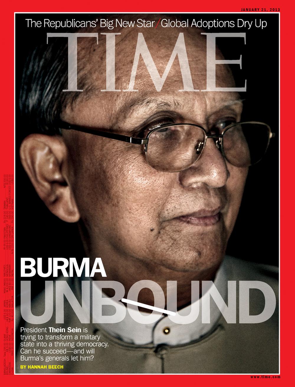 'Burma Unbound', Time Magazine, Jan. 21, 2013.