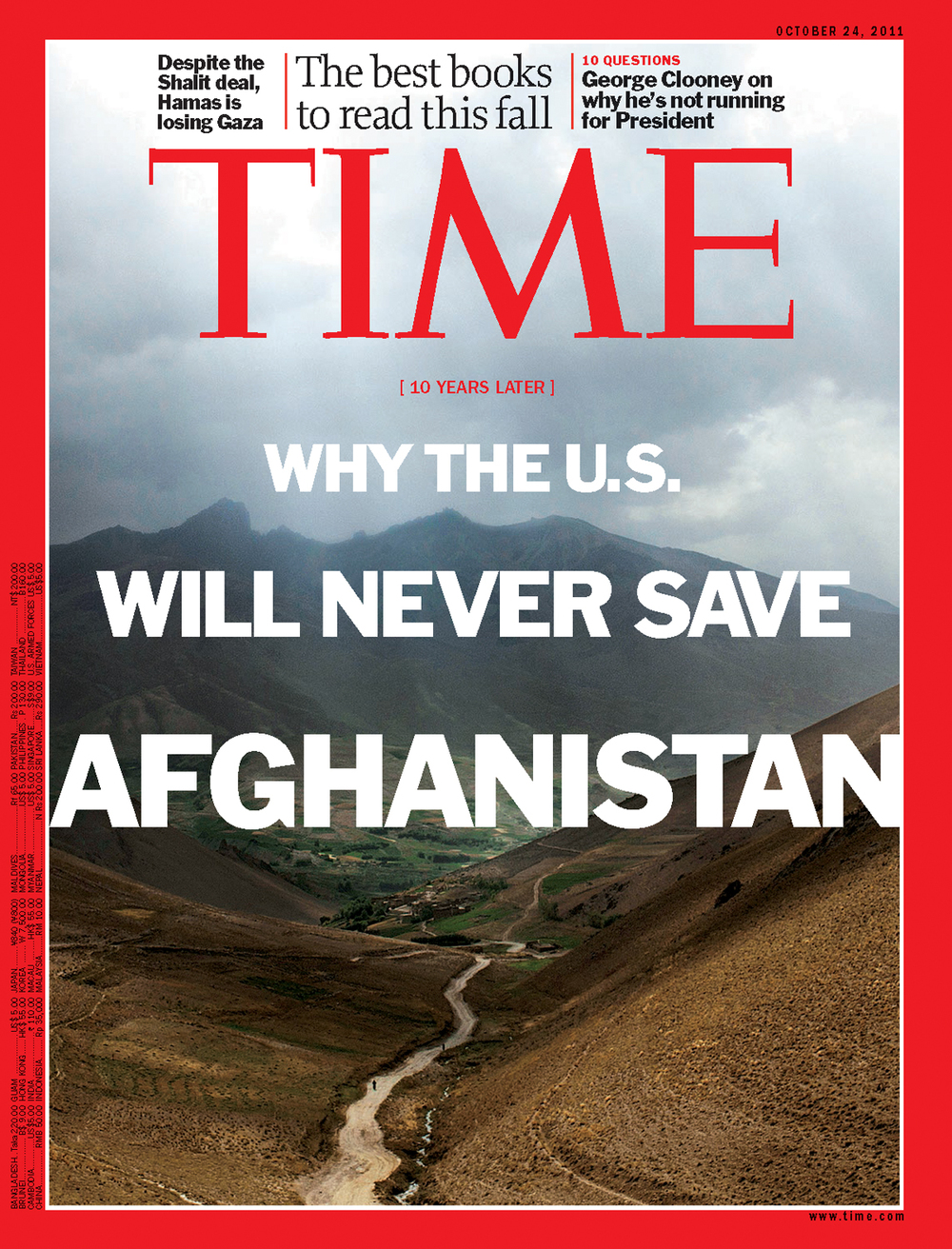 'The Unwinnable War' for  Time Magazine , 2011