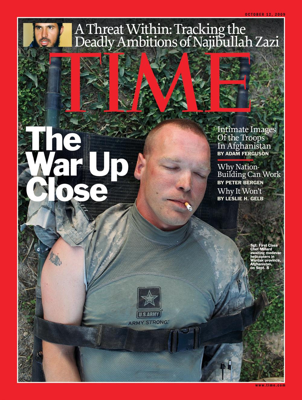 'The War Up Close', Time Magazine, October 12, 2009.
