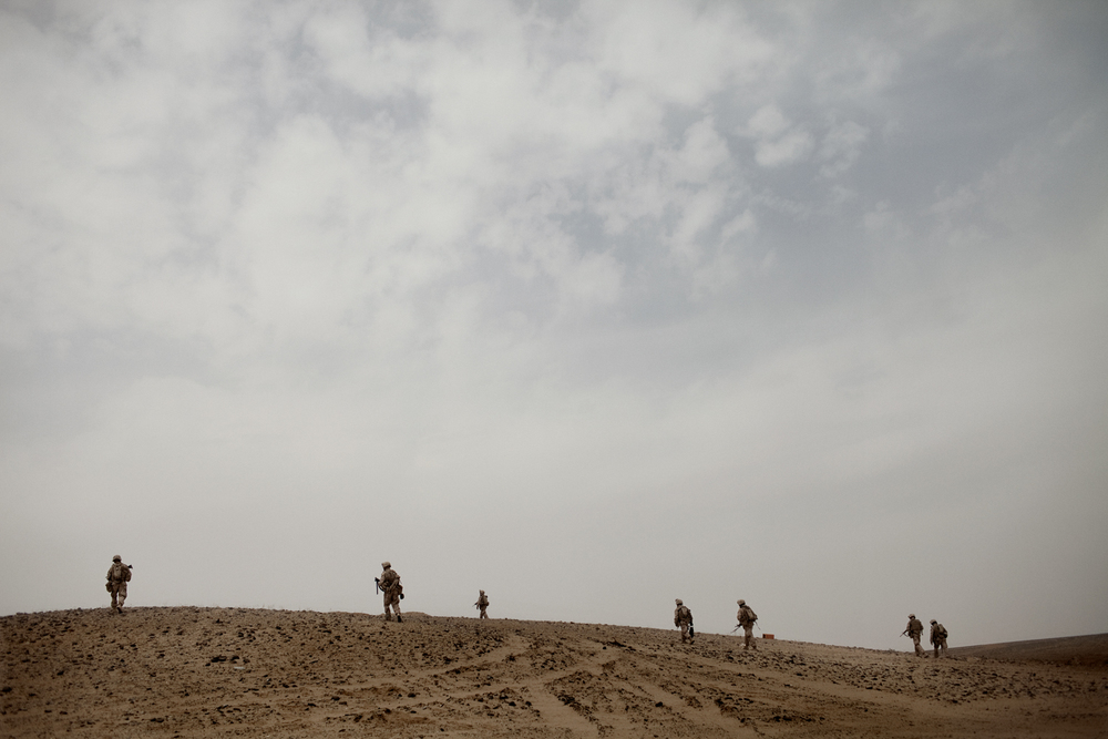 'MARJA, AFGHANISTAN' for Time Magazine:  U.S. Marines clear an area for bombs in Marja District, Helmand Province, Afghanistan.