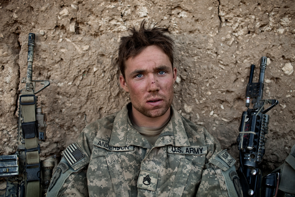 U.S. Army Sergeant Cody Anderson during an operation in the Tangi Valley, Wardak Province, Afghanistan. Anderson died after returning from Afghanistan.