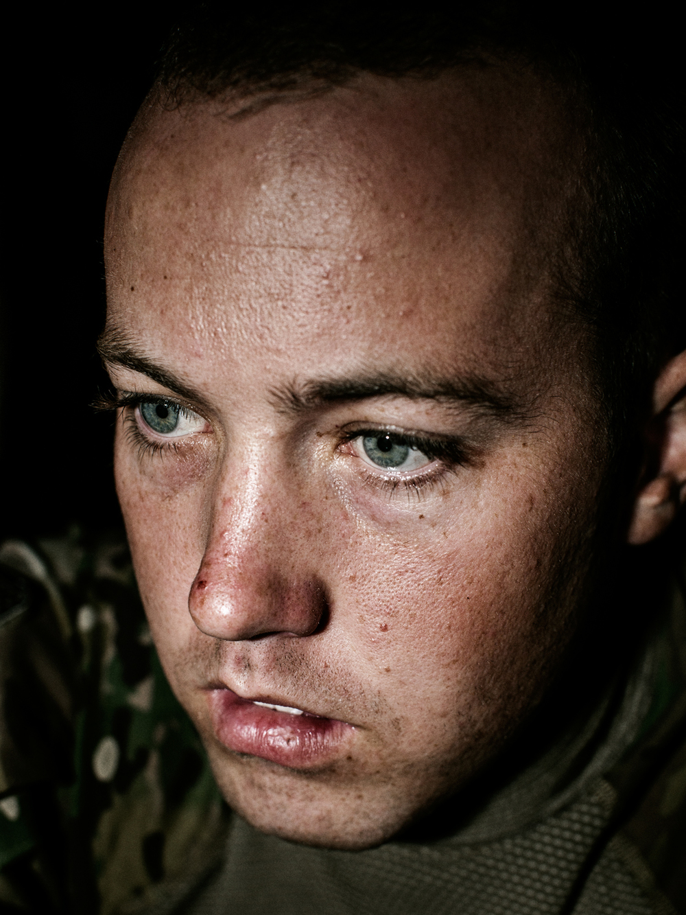 'SOLDIERS SKYPING, COMBAT POST MARGAH, AFGHANISTAN' for Time Magazine:   U.S. Army Lieutenant Andrew Addis.