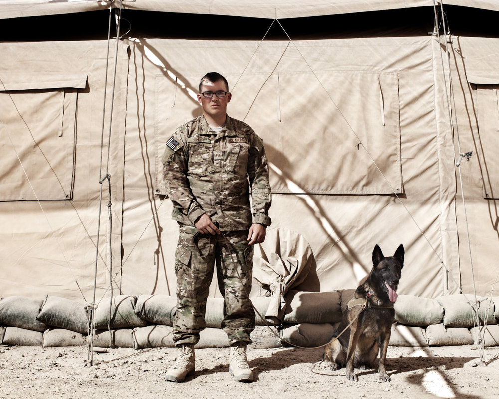 Senior Airman Erik Smith and Military Working Dog Tara, for  National Geographic Magazine
