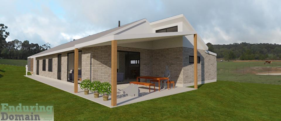 Sulky House - Passive solar brick veneer