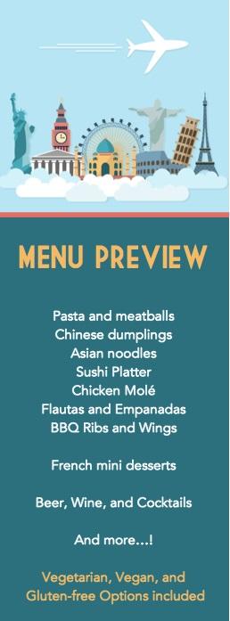 menu preview