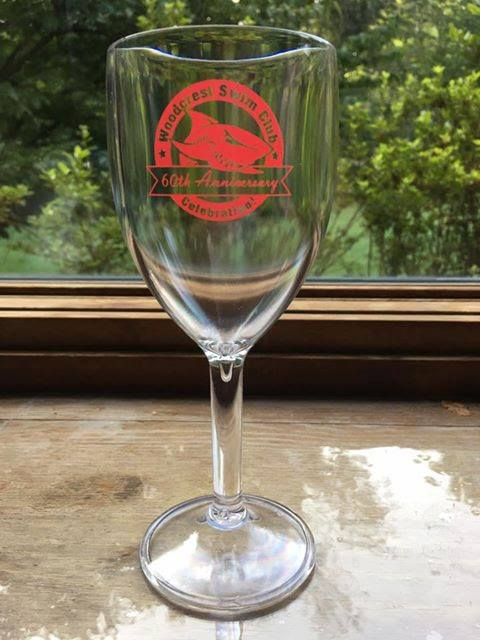60th anniversary comemerative glass