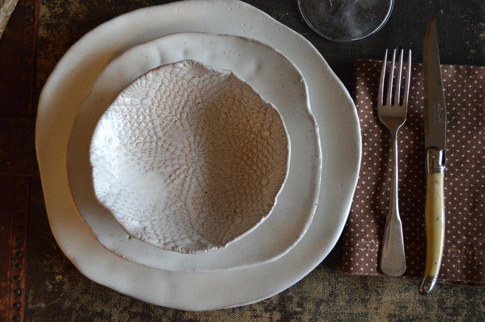 Ceramic Dinnerware set Handmade ceramics White dinnerware set Rustic Dinnerware Ceramic plates Ceramic Bowl Handmade ceramic pottery & DSC_0157.JPG?format\u003d750w