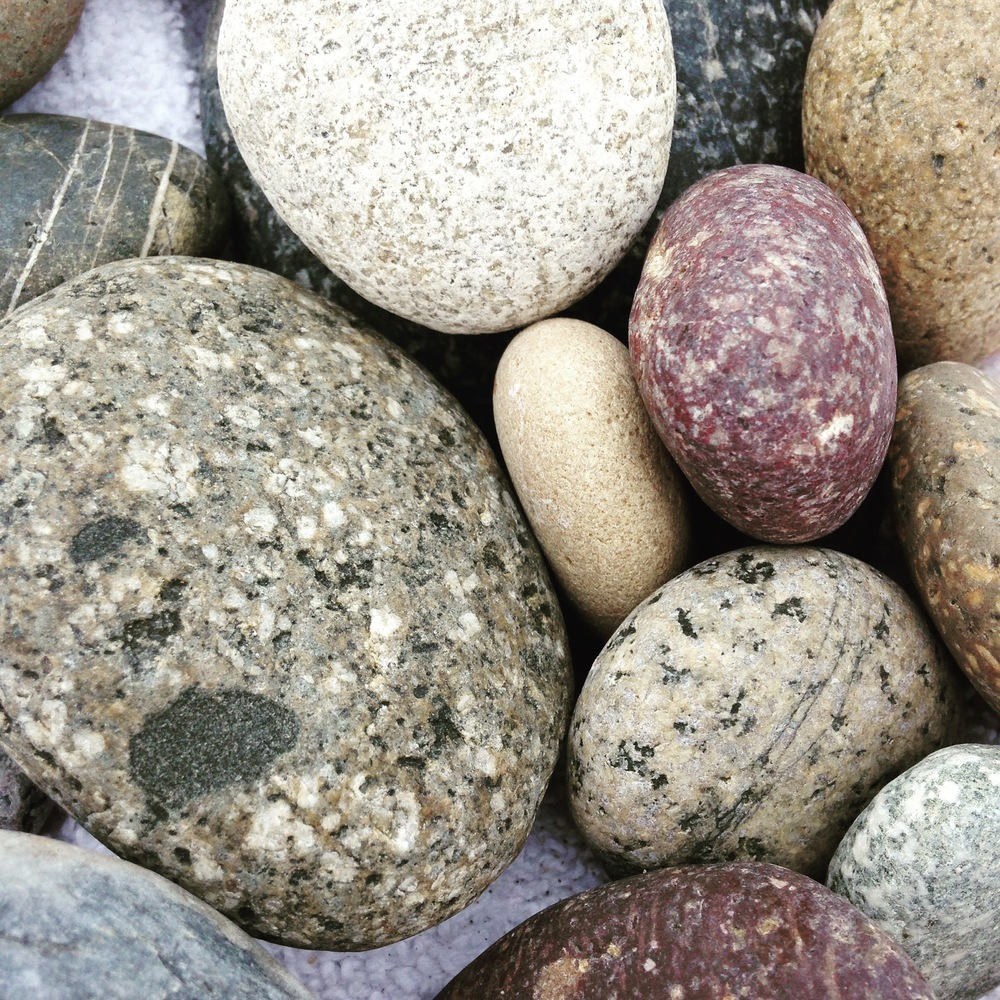 I absolutely adore to collect beach rocks! They are amazing! I think I brought back 50 pounds of them...
