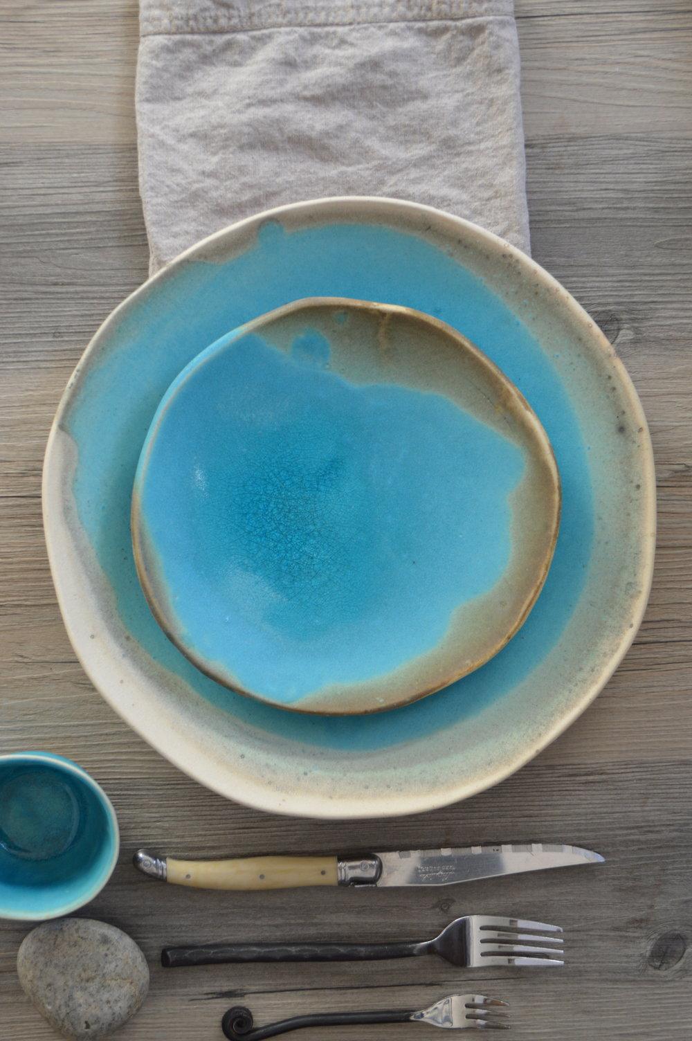 Ceramic dinner set in acqua - dinnerware set - turquoise & DSC_0038.JPG?format\u003d500w
