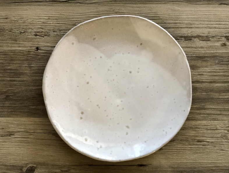 White Dinner Plates   Ceramic Dinner Plates   Set Of 4   Glossy White Glaze  On A Red Clay Body