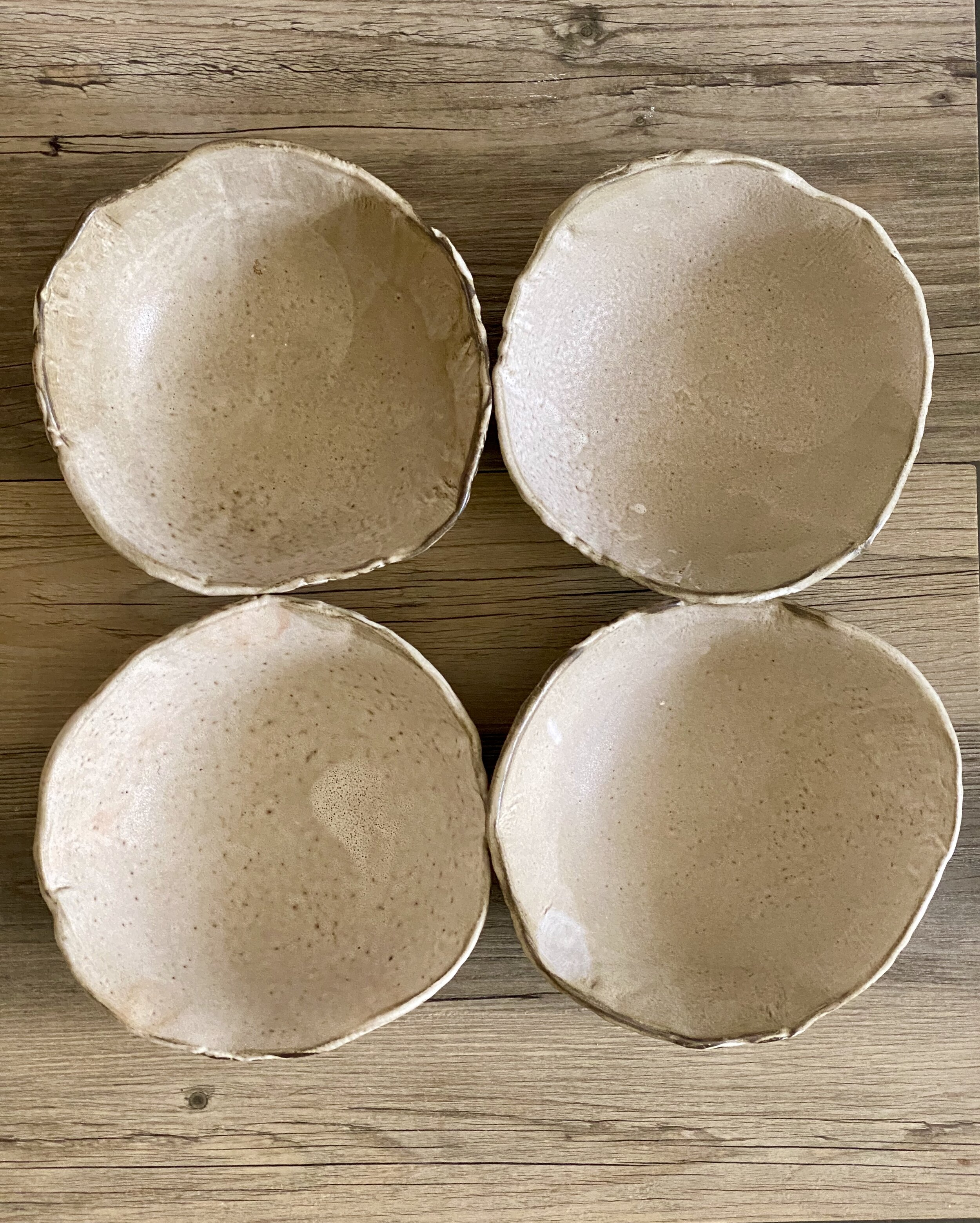 Cappuccino Ceramic Cereal Soup Bowls 7 Perfect Size And Shape Set For 4 Blue Door Ceramics