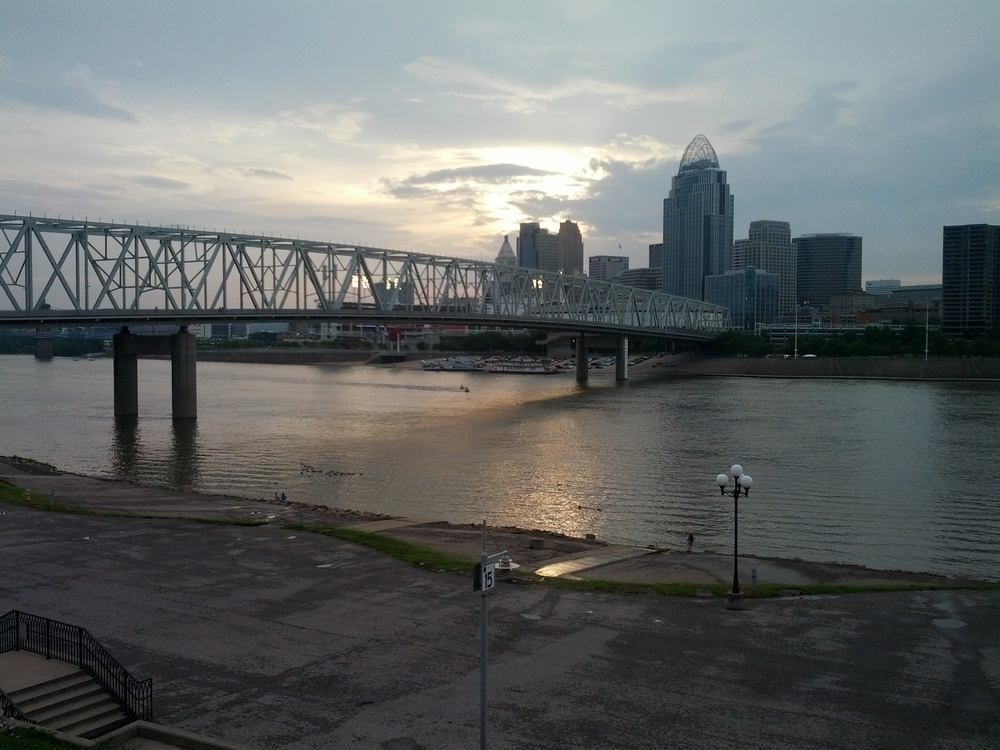 Cincinnati, across Ohio River as seen from Covington, Kentucky