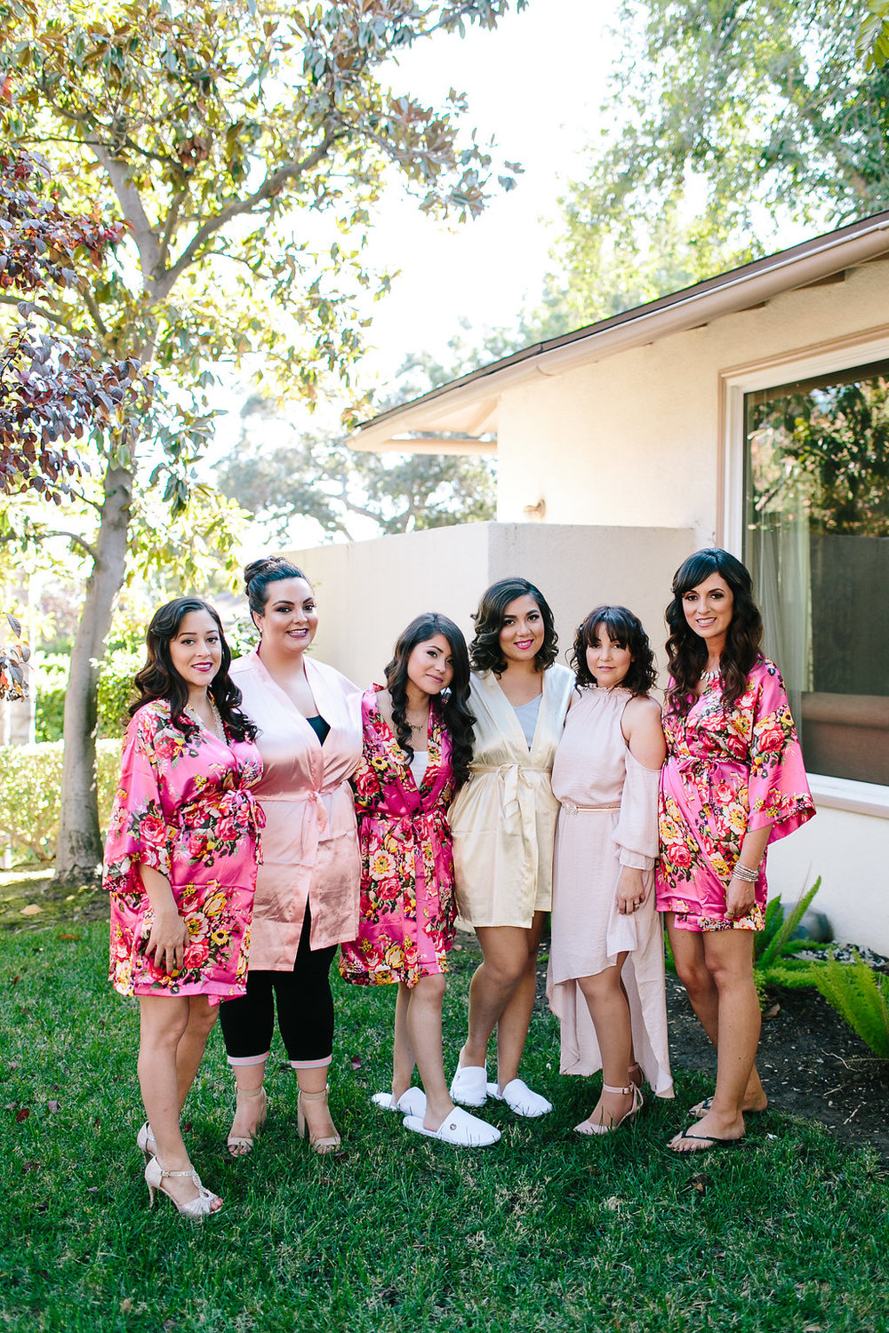 One of my favorite parts was getting ready with my besties, and my two sisters! The cottage at the beautiful Langham Hotel in South Pasadena was the perfect backdrop for this!