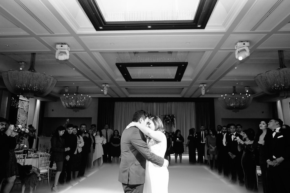 "The first dance was one of our other favorite moments. We danced to ""All I Need"" by Radiohead."