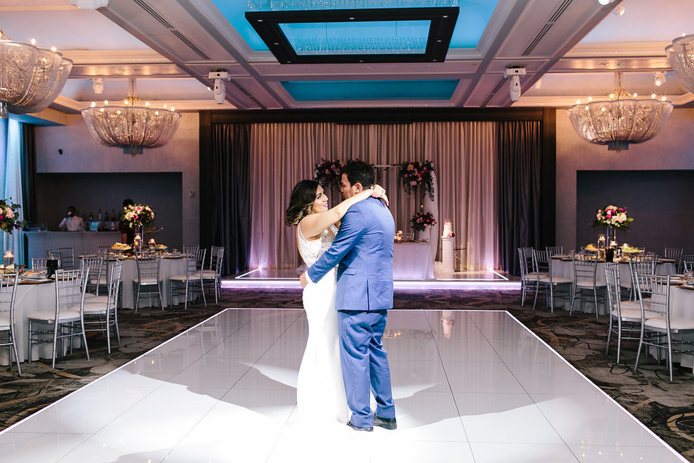 "We had our own private dance just before we opened the room, it was so beautiful and intimate to have that time alone before we greeted our guests. We danced to ""The Man in Me"" by Bob Dylan. Our son's middle name is Dylan because of this song and so I was essentially crying the whole time."