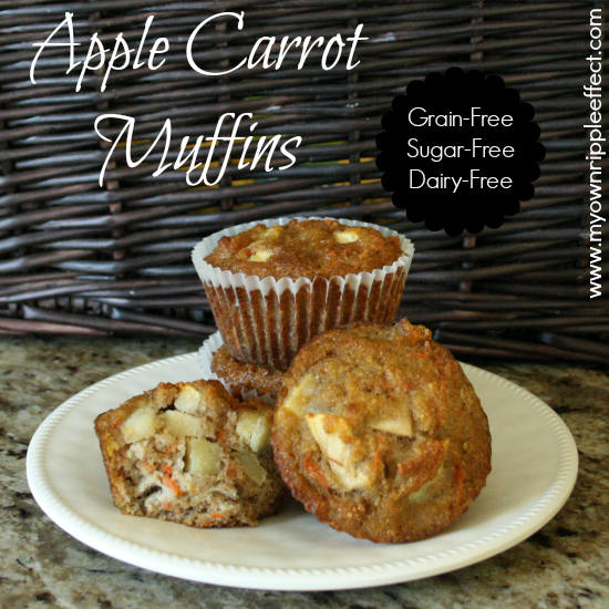 Apple Carrot Muffins {Grain-Free} 2