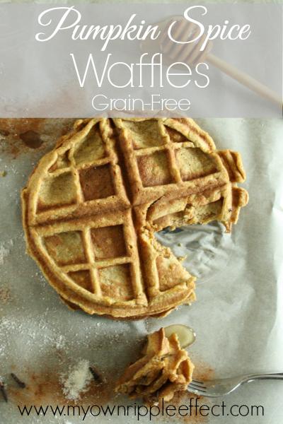 Pumpkin Spice Waffles {Grain-Free} 2