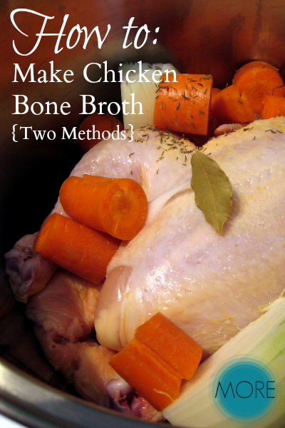 How to Make Chicken Bone Broth {Two Methods} 2