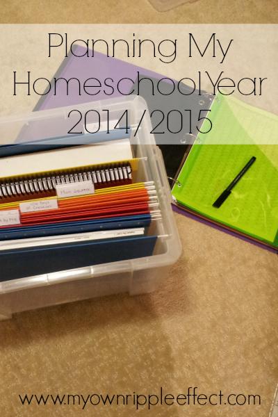 Planning My Homeschool Year 2014-2015 4