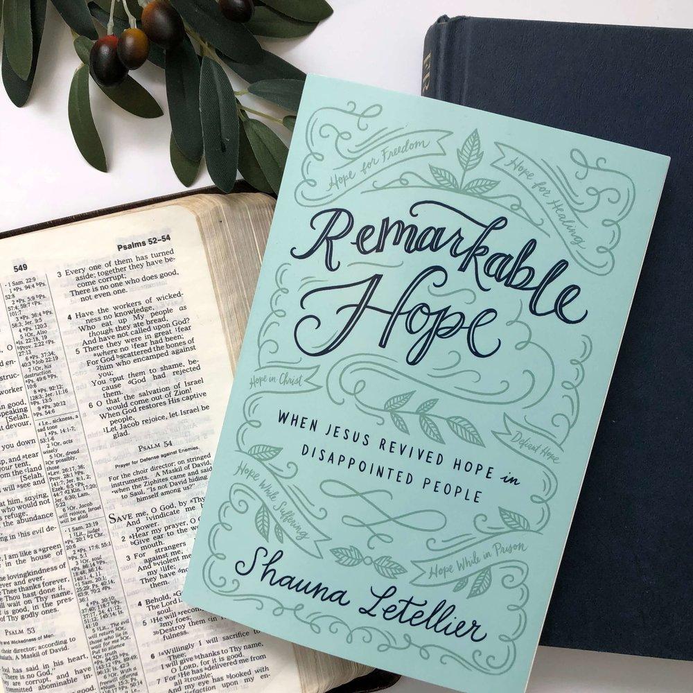 remarkable hope book shauna letellier