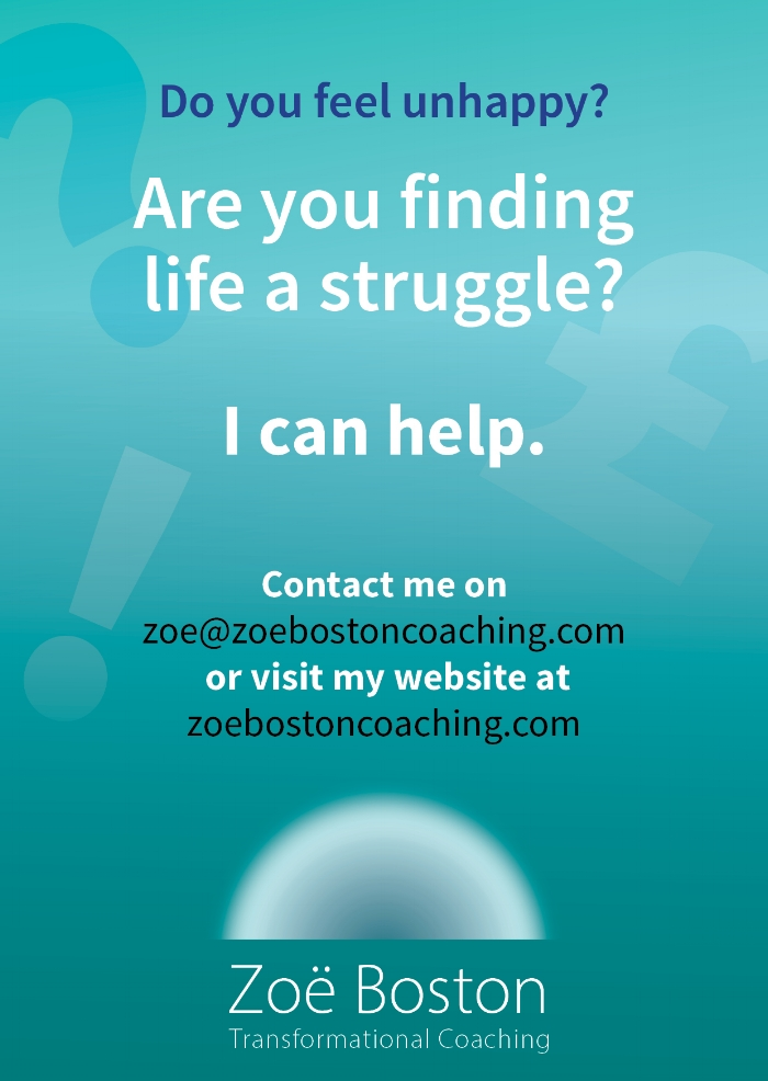 Leaflet advertising life coaching