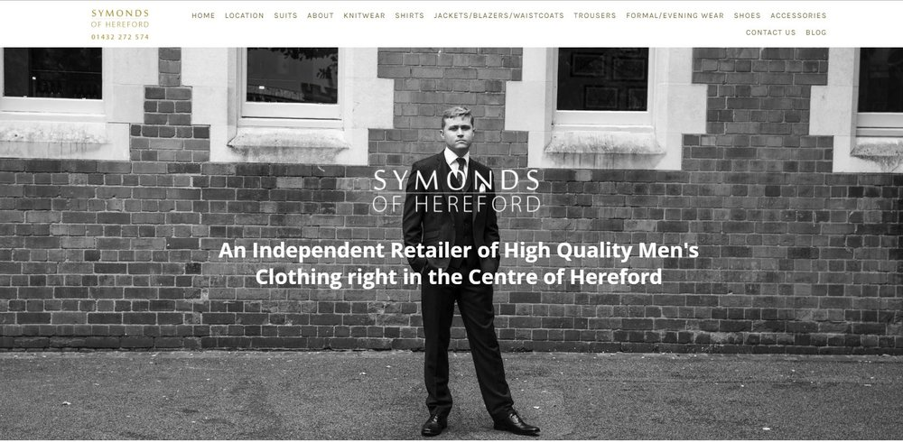 Home page of Symonds of Hereford website