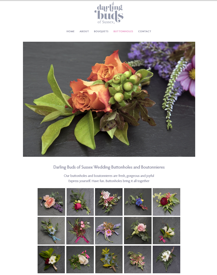 Screenshot of Darling Buds of Sussex website