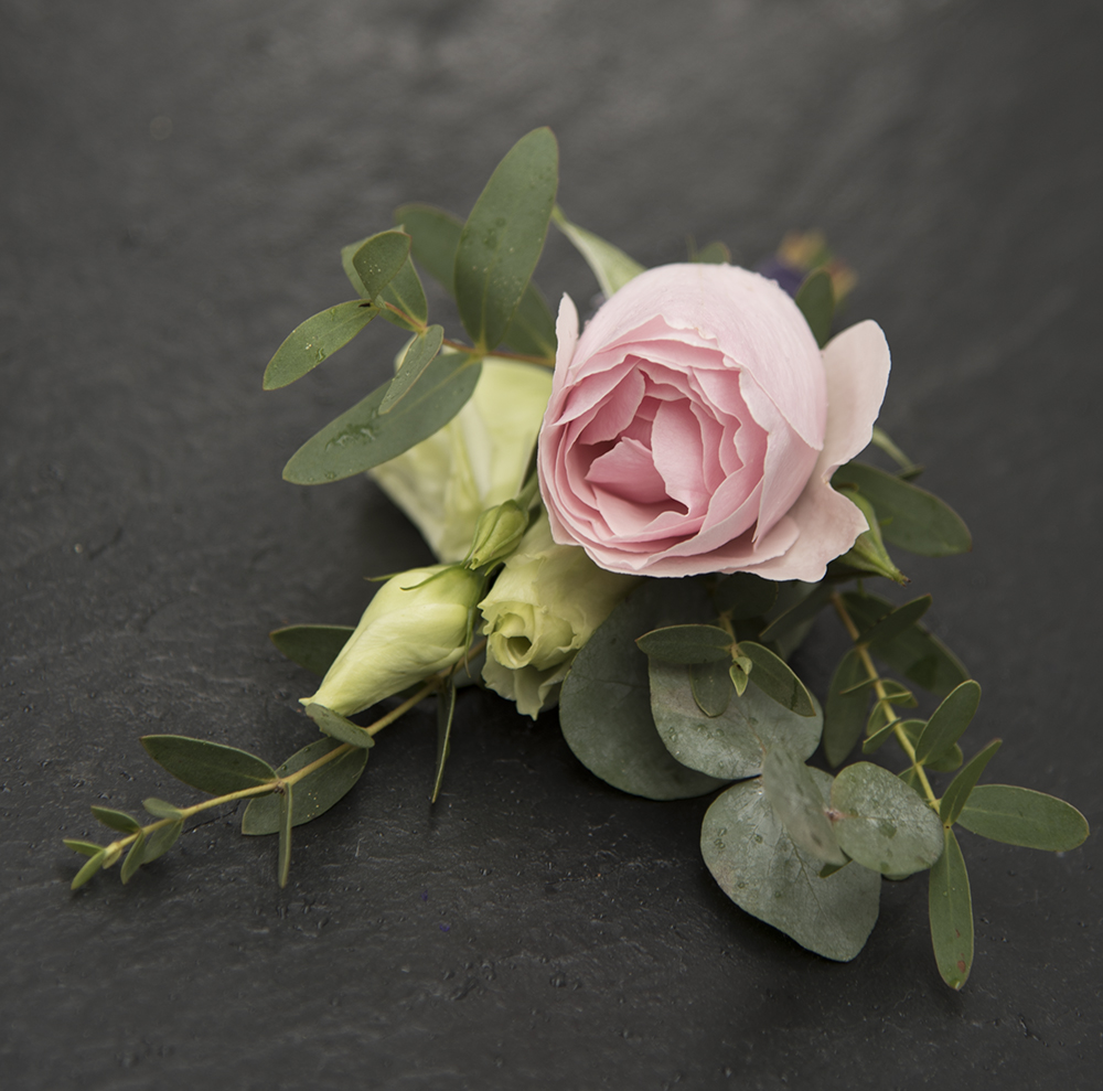Wedding buttonhole by Tracey Kirker of Darling Buds of Sussex