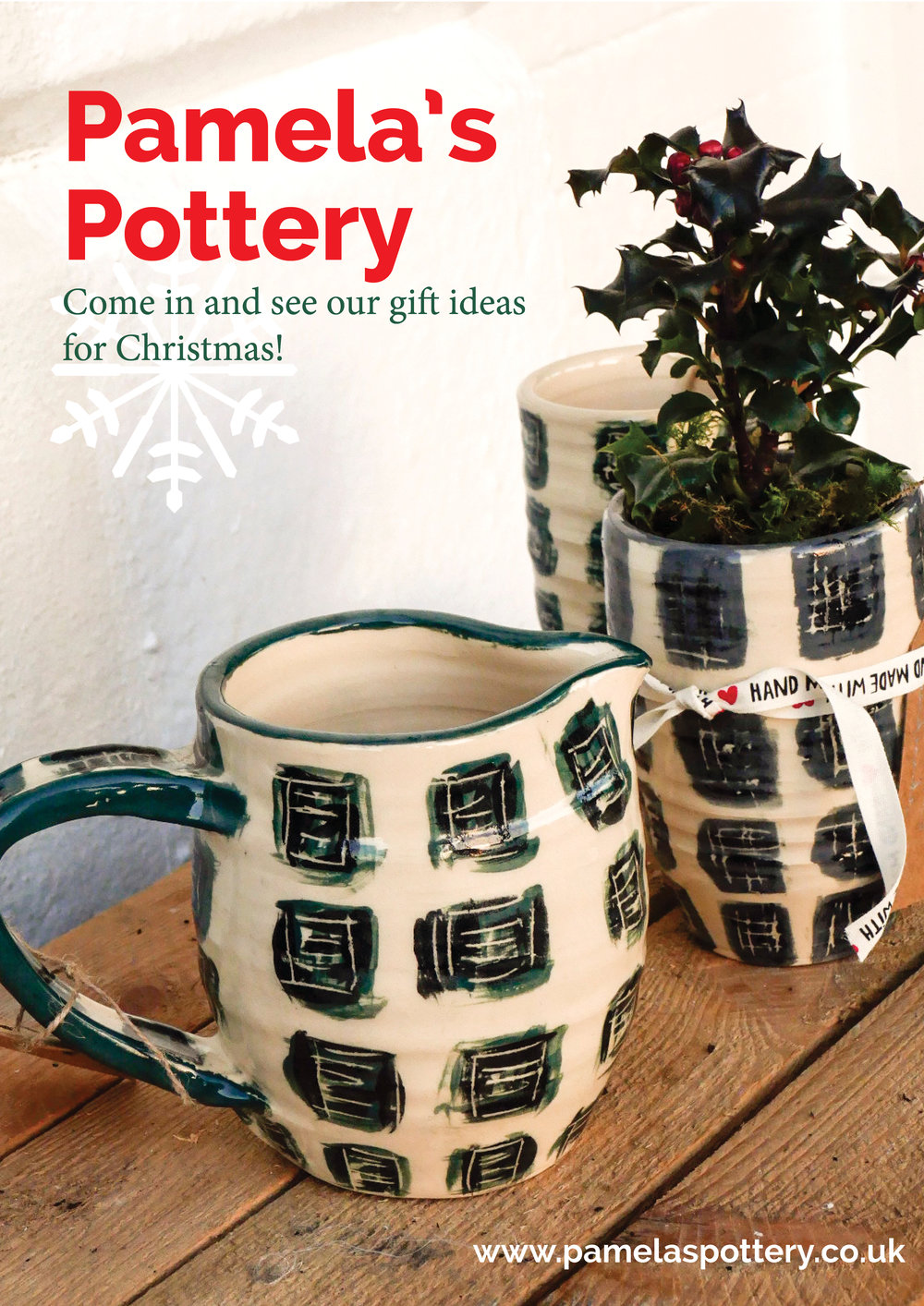 Leaflet for Pamela's pottery in Brighton