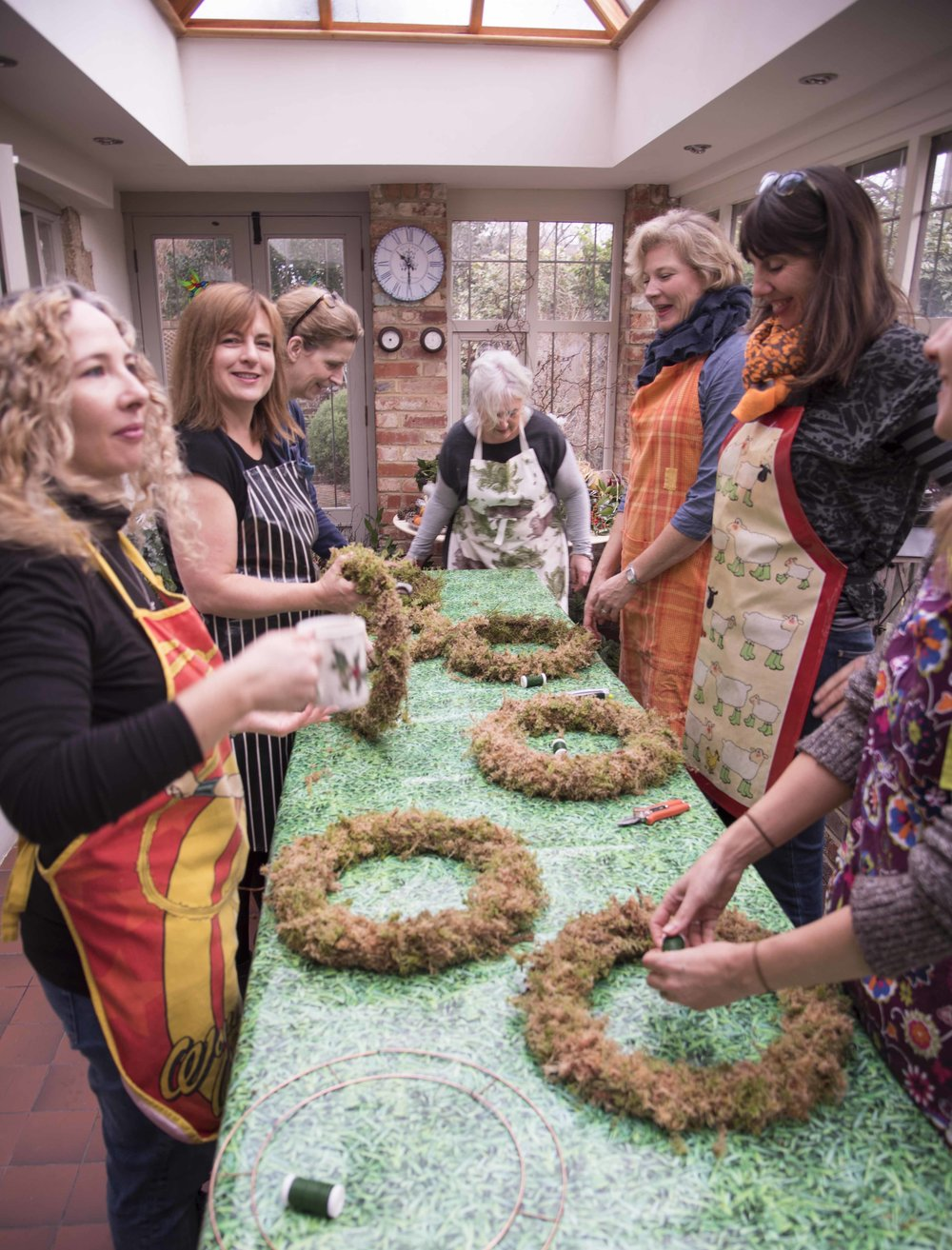 Wreath making workshop run by Darling Buds of Sussex