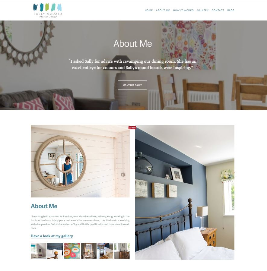 Screenshot of Interior Designer website
