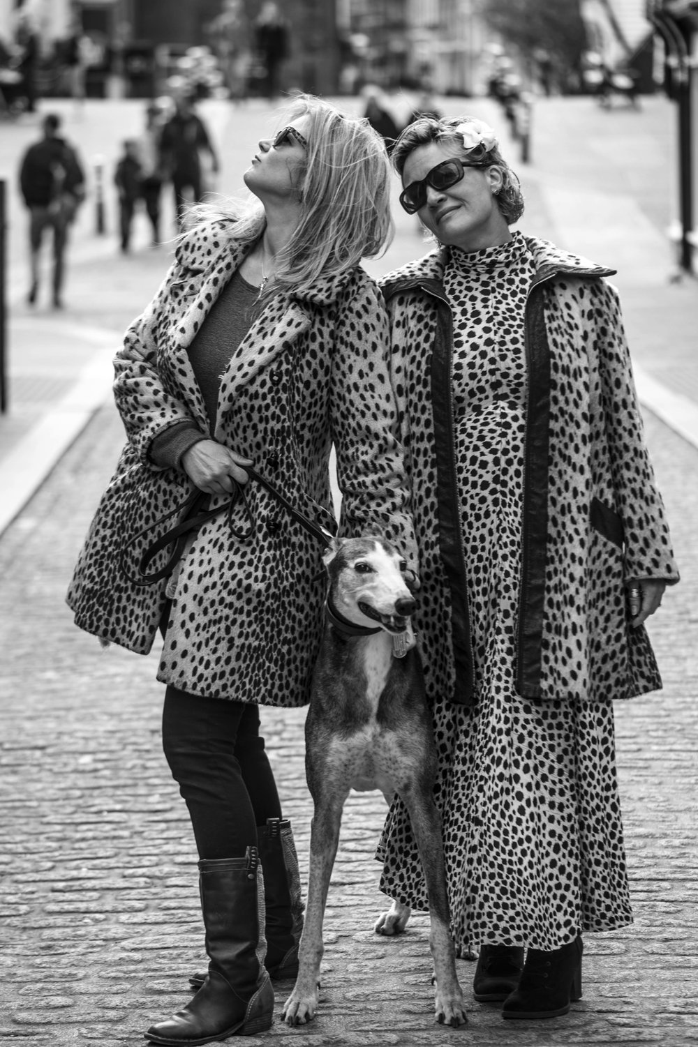Two women in fake leopardskin