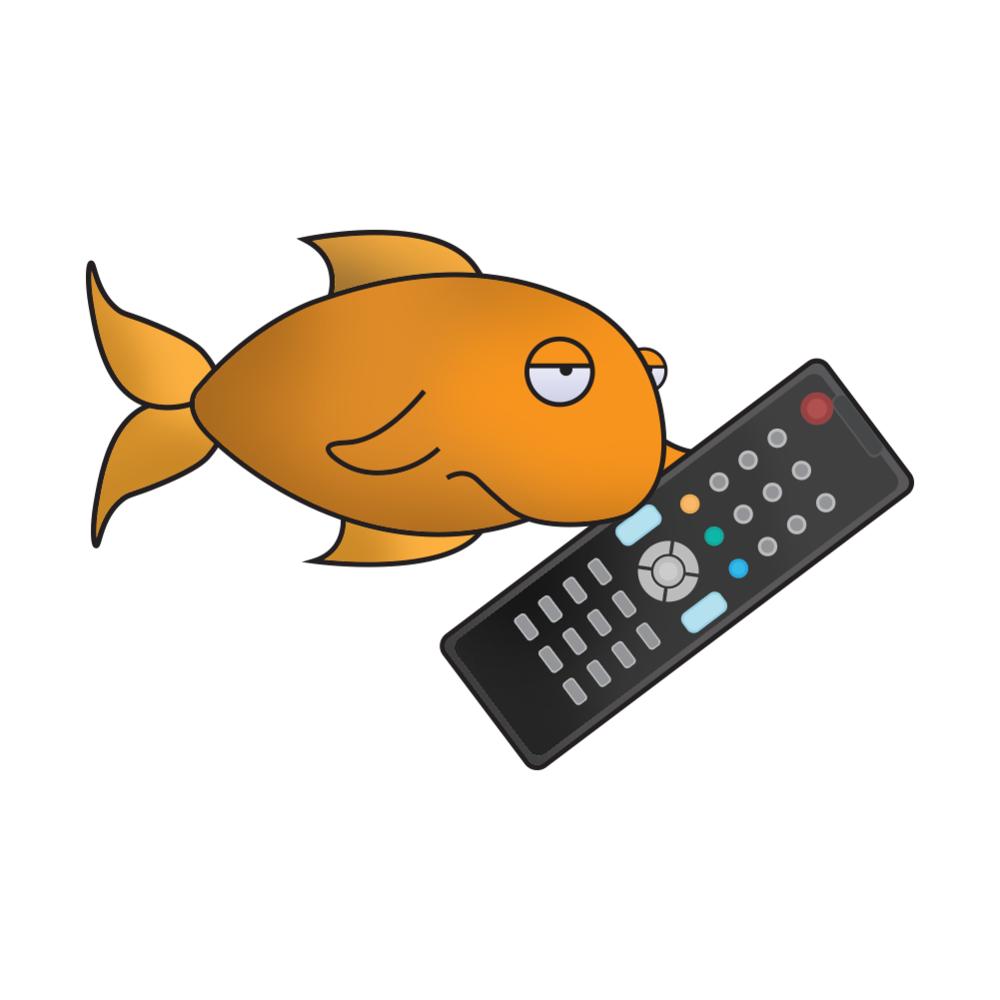 Goldfish (who actually have a longer attention span than the average web-user) flicking through TV Channels created by   Lewes Logo Designs